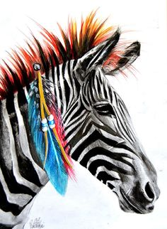 Title: Zebra Artist: Manuela Lai Made-to-order giclee fine art reproductions on canvas featuring the original artwork of today's hottest tattoo artists. Stretched and ready to hang. Museum gallery wra