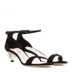 Miu Miu - Embellished suede sandals - mytheresa.com 62b59f6ff2a
