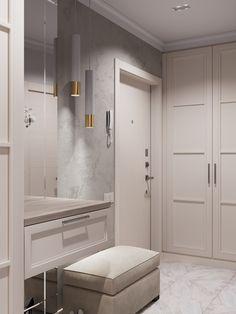 Прихожая-коридор on Behance Home Decor Furniture, Home Decor Bedroom, Furniture Design, Entrance Hall Decor, Entryway Decor, Classic Interior, Modern Interior Design, Home Room Design, House Design