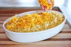 Homemade macaroni 'n cheese from The Pioneer Woman.  Awesome and easy to make!