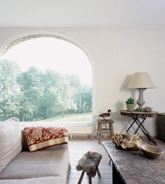 I love the arched window, so huge and such a great view