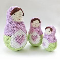 Amigurumi doll pattern crochet nesting dolls pattern. by goolgool