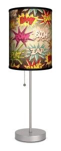 this unique table lamp is sure to please any super hero fan there are many - Unique Table Lamps