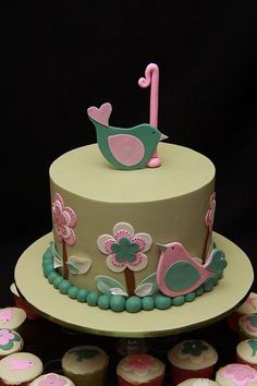 So cute!! Love the cake and it matches my baby girls room theme!! I think this maybe her 1 year bday cake:)