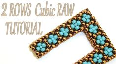 Cubic RAW beading Tutorial without Pictures - 2 Rows CRAW Pattern - Bead Cubic R. Cubic RAW beading Tutorial without Pictures - 2 Rows . Beaded Jewelry Patterns, Bracelet Patterns, Beading Patterns, Paper Beads Tutorial, Beaded Bracelets Tutorial, Seed Bead Tutorials, Beading Tutorials, Right Angle Weave, Seed Bead Jewelry