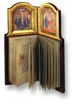 Precioso - Personal prayer-book/diptych belonging to Philip the Good, Duke of Burgundy. The combination of diptych and devotional book is unique in the history of art. Built around 1430 - 15th Century, Austrian National Library, Vienna