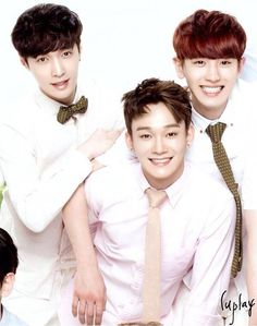 Lay, Chen and ChanYeol - Nature Republic New Poster (cr. luplay)