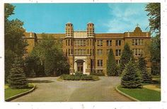 1960's Academy of Notre Dame 6300 W. Main Street Belleville IL Postcard