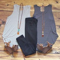 You just can't go wrong with STRIPES!! Shop these classic pieces for just $24 each!