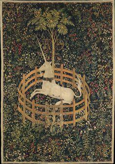 LA CAZA del UNICORNIO, serie de tapices flamencos (1495-1505), conservada en The Cloisters, Nueva York.