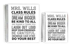 Teacher Planners - Classroom Rules Custom Teacher Planner