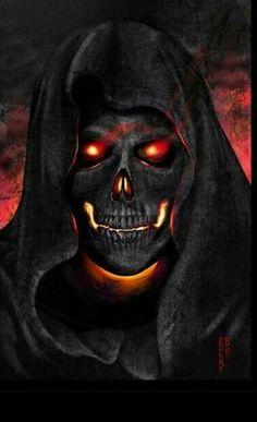Burning skull...