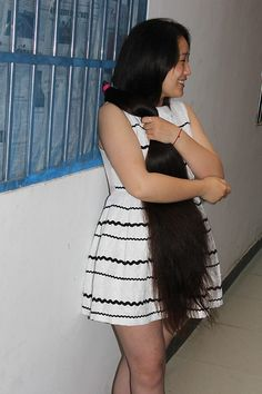 Long Hair Ponytail, Ponytail Hairstyles, Indian Hair Cuts, Long Hair Cuts, Long Hair Styles, Forced Haircut, Beautiful Long Hair, Indian Hairstyles, Cutting Hair