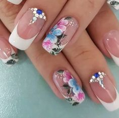 top nail art designs 2017 best ever - style you 7 Best Nail Art Designs, Beautiful Nail Designs, Spring Nail Art, Spring Nails, Cute Nails, Pretty Nails, Nail Art Design 2017, Toe Nail Art, Flower Nails