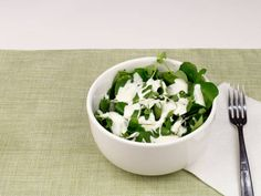 healthy watercress and blue cheese salad