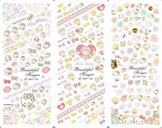 lots and lots of hello kitty nail decals