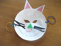 Preschool Crafts for Kids*: paper plate Cat mask