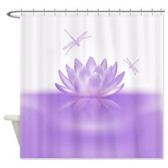 Lavender Shower Curtains | Beautiful Gifts > Beautiful Bathroom Décor > Purple Lotus and ...