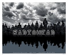 """Emek's """"Radiohead"""" poster for their 2-show stop in NYC in 2011"""