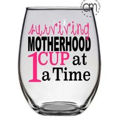 Surviving Motherhood Coffee Mug & Wine glass, Mothers Day Gif... More