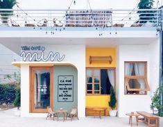 Cafe Shop Design, Coffee Shop Interior Design, Store Design, Small Coffee Shop, Cafe House, Milk Shop, Facade Design, Cafe Restaurant, Bakery