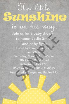 Superior You Are My Sunshine Baby Shower Invitation 4x6 By PrepMyParty, $10.00