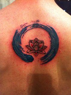 Enso with Lotus