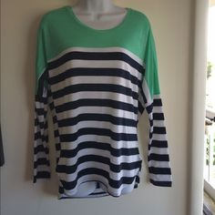 Brand new navy, white and mint green semi batwing Firm unless bundled. Thank you for understanding.  Rue 21 Tops