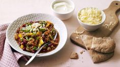 Meat-free chilli con carne |      This chilli packs a real flavour punch and is super simple to make.Find out how you could cut your food bills with the Eat Well for Less quiz.