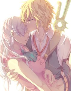 for Meliodas and Elizabeth I kept messing with the colors cuz I couldn't decide how I wanted this to look. But it was fun~ Edit: apparently the correct tag for these two is Melizabeth ahahhah. I ha...