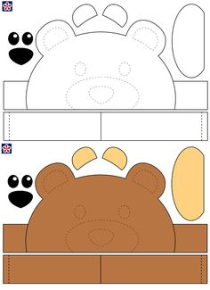 Printable Animals, Printable Crafts, Templates Printable Free, Owl Templates, Applique Templates, Applique Patterns, Printable Worksheets, Bear Crafts Preschool, Animal Crafts For Kids