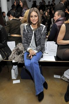 The Olivia Palermo Lookbook : New York Fashion Week Fall 2012 :Olivia Palermo at Peter Som