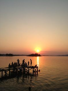 Sunset at Flores, Peten, Guatemala