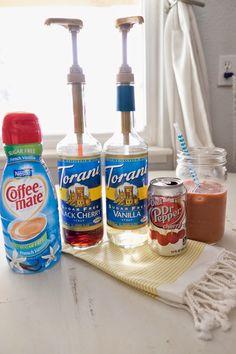 Diet Dr Pepper Cherry Italian Soda by Ashley from DomesticFashionista.com