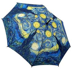 Click on the image to find out this Blue #umbrella Starry Night from Vincent Van Gogh. https://www.rosemarie-schulz.eu/en/umbrellas/83-stickumbrella-starry-night-van-gogh.html
