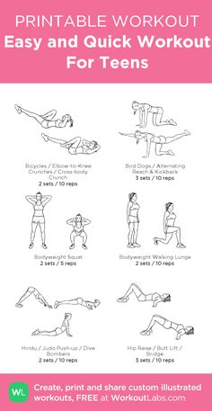 Easy and Quick Workout For Teens –