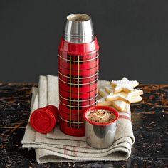 Classic Plaid Thermos for Apres-Ski Hot Cocoa