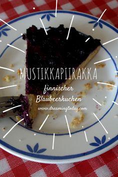 Mustikkapiirakka, Blaubeerkuchen aus Finnland ist ein tolles Kuchenrezept für den Sommer. Cupcakes, Nom Nom, Pudding, Pie, Baking, Desserts, Drinks, Food, Finland