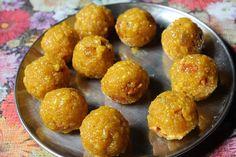 Boondi Ladoo Recipe / Boondi Laddu Recipe - Yummy Tummy Boondi Ladoo, Yellow Food Coloring, Oil For Deep Frying, Yellow Foods, Gram Flour, Cardamom Powder, Sugar Candy, Dessert Recipes, Desserts