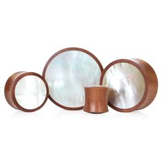 If only they had these in 0g!!! Saba Wood With White Shell | UK Custom Plugs - Ear Gauges, Flesh Tunnels for Stretched Ears