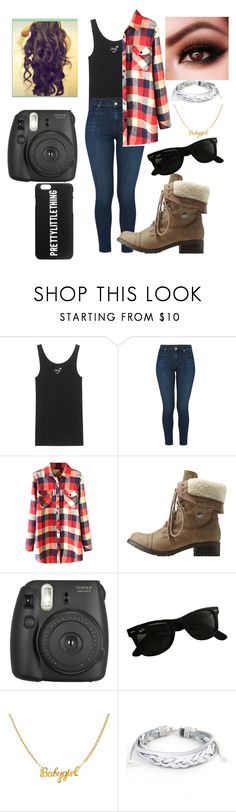"""Untitled #52"" by stephanierenea14 ❤ liked on Polyvore featuring Juvia, J Brand, WithChic, Charlotte Russe, Fujifilm, Ray-Ban and West Coast Jewelry"