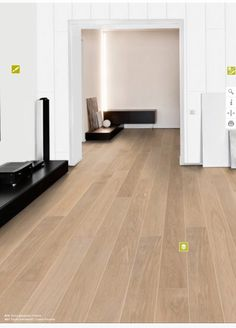 Parkett A16 Ter Hürne, Eiche weiß gekälkt Hardwood Floors, Flooring, Deco, Flat Screen, Interior Design, Color, Flats, Interiors, Living Room Modern