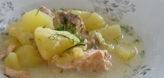 Lohikeitto - Finnish salmon and potato soup. Can be made with cream or stock