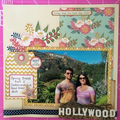 Scrapbook layout: Hollywood