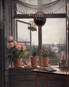 View from the Artist's Window, 1825, Martinus Rørbye