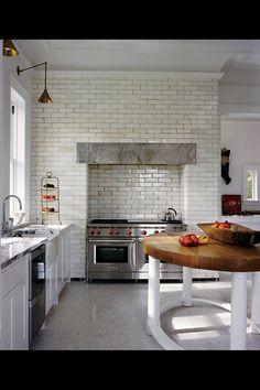 Love this kitchen island - Photo by François Halard
