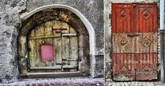 Doors in the old town, Hall in Tirol