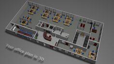 Office plan in 3d www.bonafe.nl