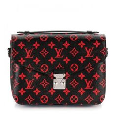 LOUIS VUITTON Monogram Infrarouge Pochette Metis ❤ liked on Polyvore featuring bags, monogrammed messenger bags, louis vuitton, courier bag, louis vuitton messenger bag and locking courier bag