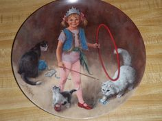 John McClelland Circus Collector Plate Maggie Animal Trainer Knowles Kitty Cats